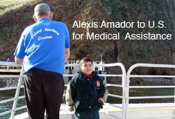 Alexis to U.S. for medical assistance