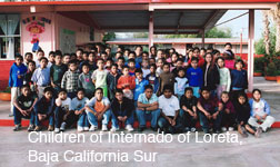 Children of Internado of Loreto Baja California Sur